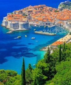 Croatia Walls Of Dubrovnik Paint by numbers