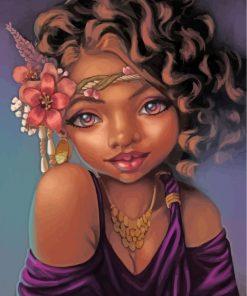 cute-blackk-woman-paint-by-numbers