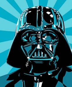 Darth Vader Illustration paint by numbers