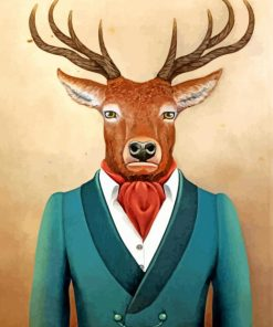 deer-wearing-a-suit-paint-by-number