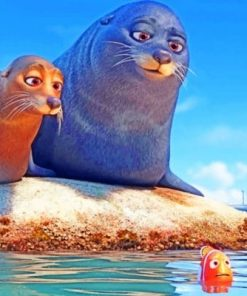 Finding Dory Sea Lions Paint by numbers