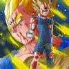 Dragon Ball Majin Vegeta Paint by numbers