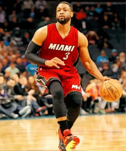 Dwyane Wade Basketball Player Paint by numbers