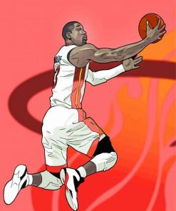Dwyane Wade Illustration Paint by numbers