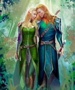 Elf King And Queen Paint by numbers