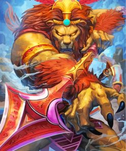 fantastic-king-lion-paint-by-numbers