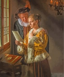 father-and-daughter-Johannes-Vermeer-paint-by-numbers