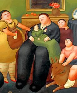 Fernando Botero Family Paint by numbers