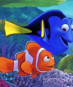 Finding Nemo And Dory Paint by numbers