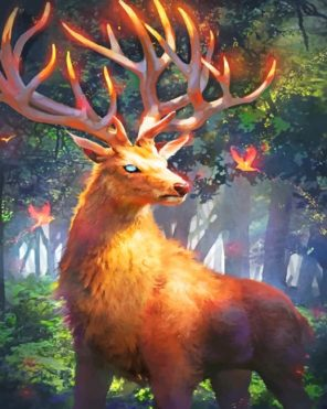 fire-stag-paint-by-number