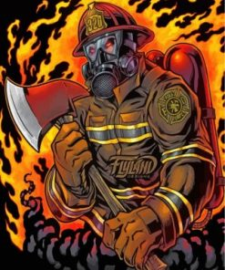 Cool Firefighter Paint by numbers