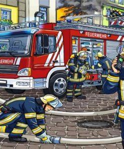 Firemen Heroes Paint by numbers