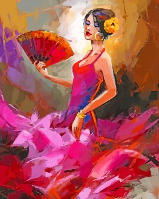 flamenco-lady-dancer-paint-by-number