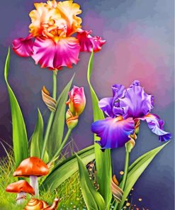 flowers-and-mashrooms-paint-by-numbers