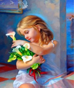 girl-holding-flowers-paint-by-numbers
