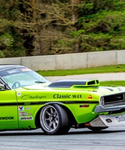 green-dodge-charger-paint-by-numbers