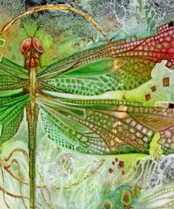 green-dragonfly-paint-by-numbers