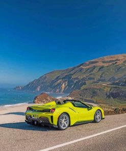 green-ferrari-488-paint-by-number