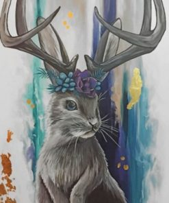 Grey Jackalope Paint by numbers