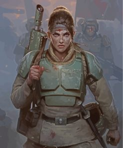 guard-woman-paint-by-numbers