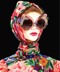 gucci-classy-woman-paint-by-numbers