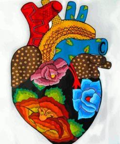 Heart Folk Art Paint by numbers
