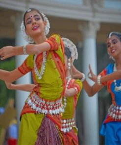 Indian Girls Dancing Paint by numbers