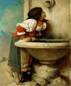 leon-bonnat-roman-girl-at-a-fountain-paint-by-numbers