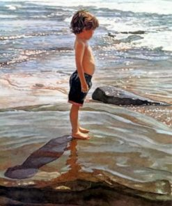 Little Boy On The Beach Steve Hanks Paint by numbers