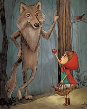 Little Red Riding Hood Animation Paint by numbers