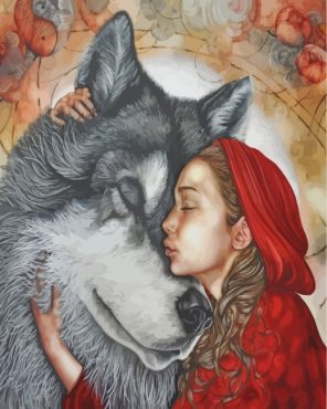 Little Red Riding Hood Paint by numbers