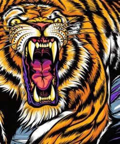 Lsu Logo Paint by numbers