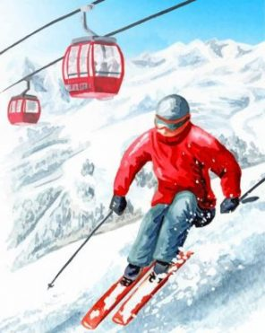 Man Skiing Paint by numbers