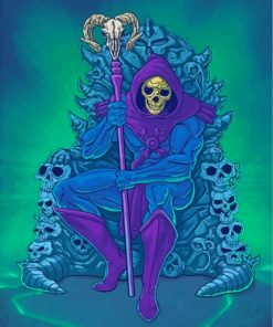 Master Of The Universe Skeletor Paint by numbers