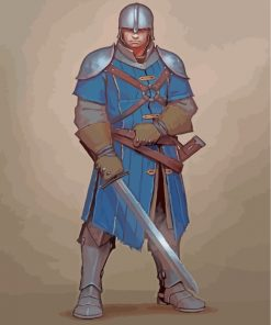 medieval-guard-paint-by-numbers