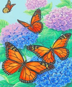 monarch-butterflies-and-blue-flowers-paint-by-number