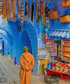 Moroccan Traditional Street Paint by numbers