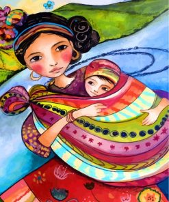 mother-and-her-baby-paint-by-numbers