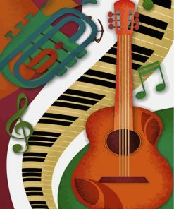 musical-instruments-paint-by-numbers