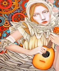 Musician Lady Paint by numbers