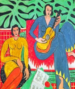 Musician Women Matisse paint by numbers