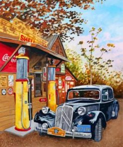Filling Station Paint by numbers