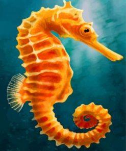 Orange Seahorse Paint by numbers