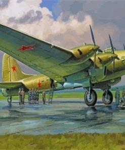 Petlyakov Pe 8 Bomber Paint by numbers