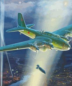 Petlyakov Pe 8 Bomber Heavy Bomber Paint by number
