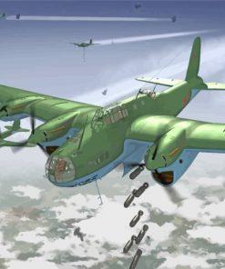Petlyakov Pe 8 Plane Paint by numbers