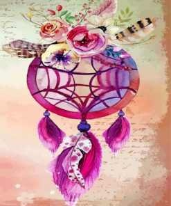 pink-dream-catcher-paint-by-number