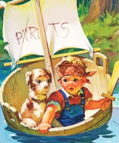 Pirate Boy Paint by numbers