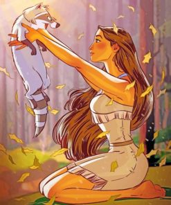 pocahontas-Disney-paint-by-number-1