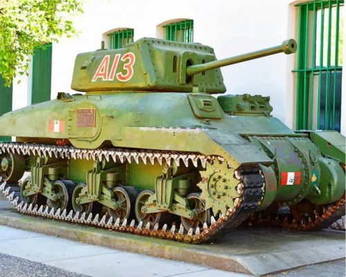Military Ram Tank Paint by numbers